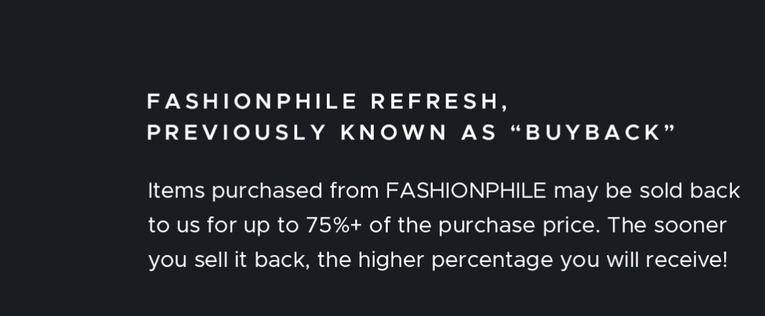 Fashionphile refresh