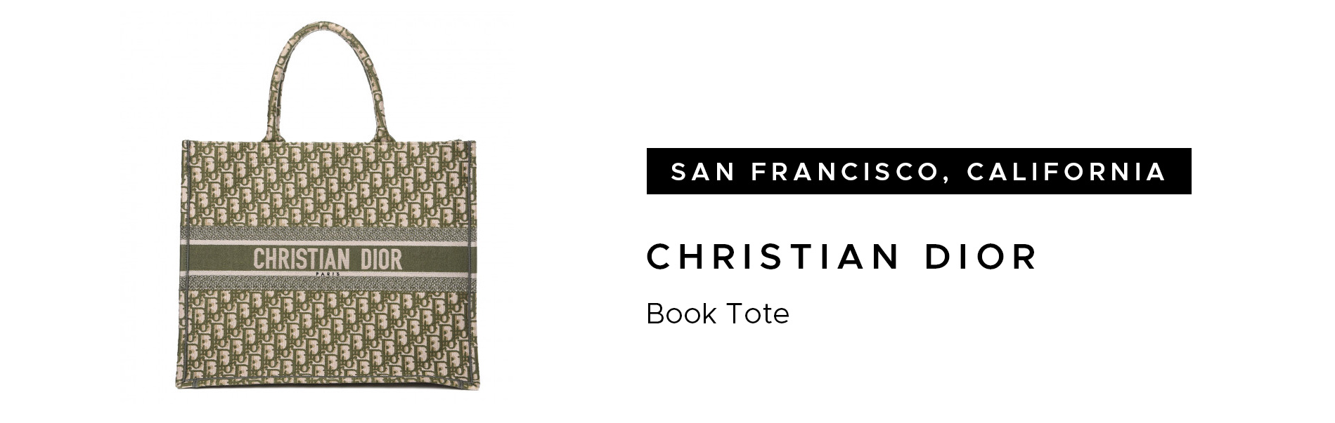 San Francisco Christian Dior Book Tote