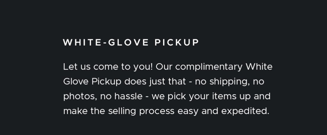 White Glove Pickup