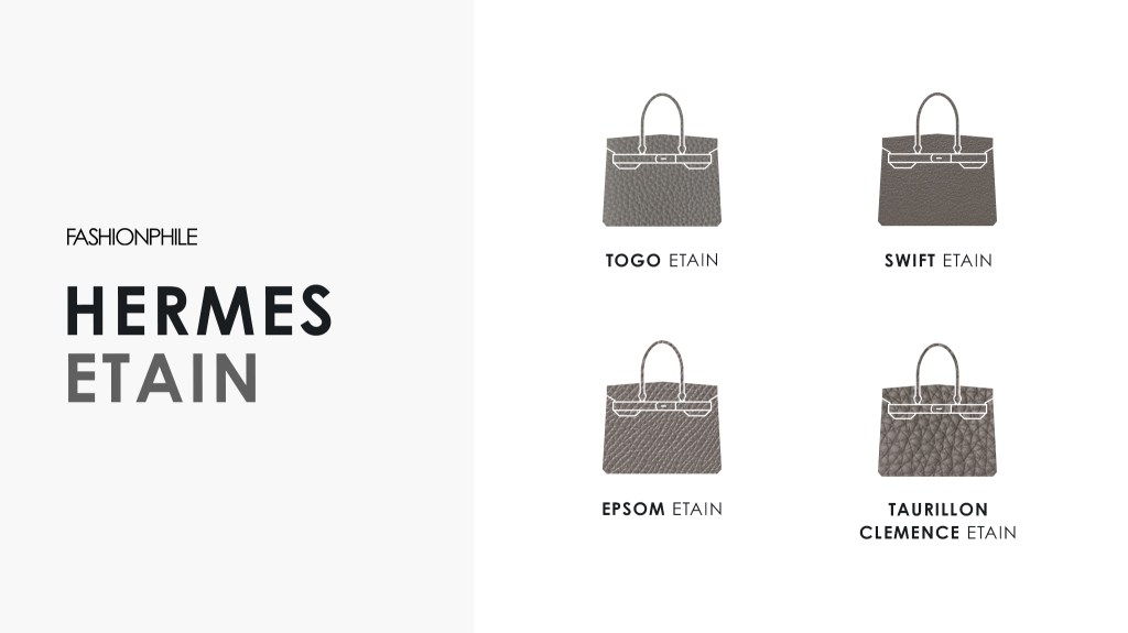 Hermes Etain Design Graphic FASHIONPHILE