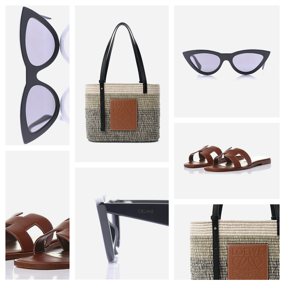 Collage of our favorite fashion accessories, Sunglass Pairings FASHIONPHILE