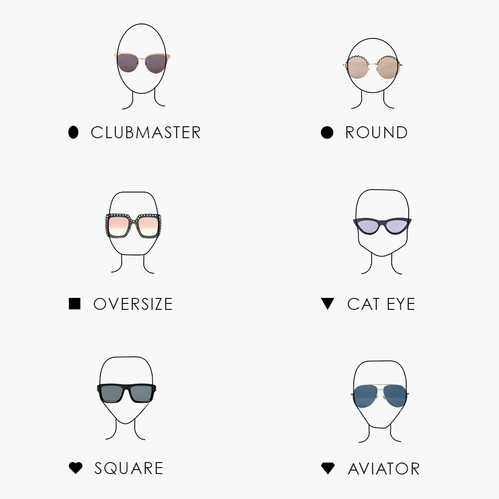 The Best Sunglass Styles For Your Face Shape