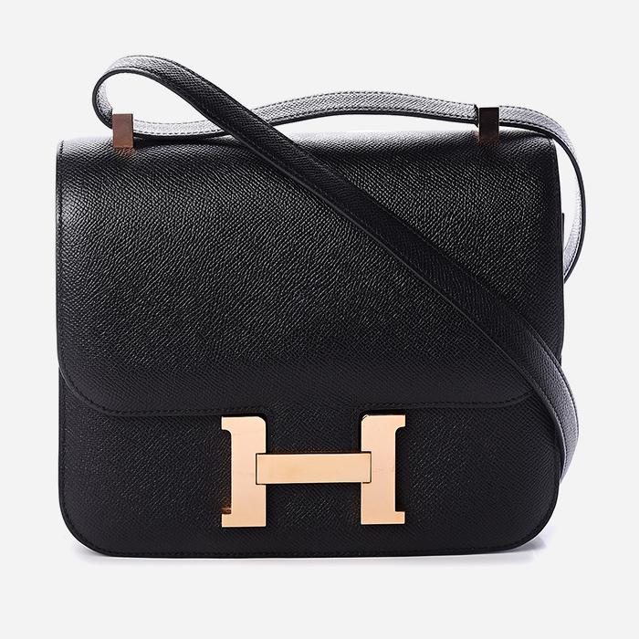 product image of Hermes Epsom Constance 24 Black FASHIONPHILE
