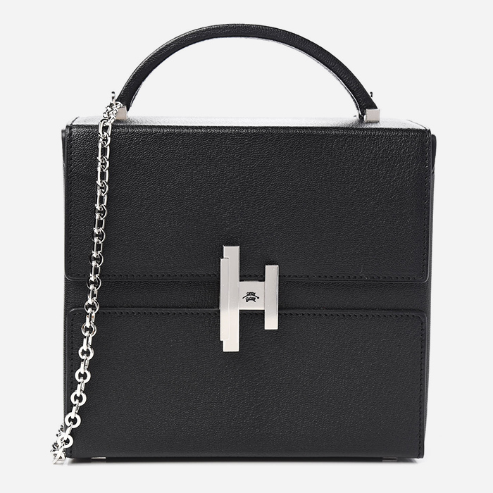 product image of Hermes Chevre Mysore Cinhetic Boxy Top Handle Bag Black FASHIONPHILE