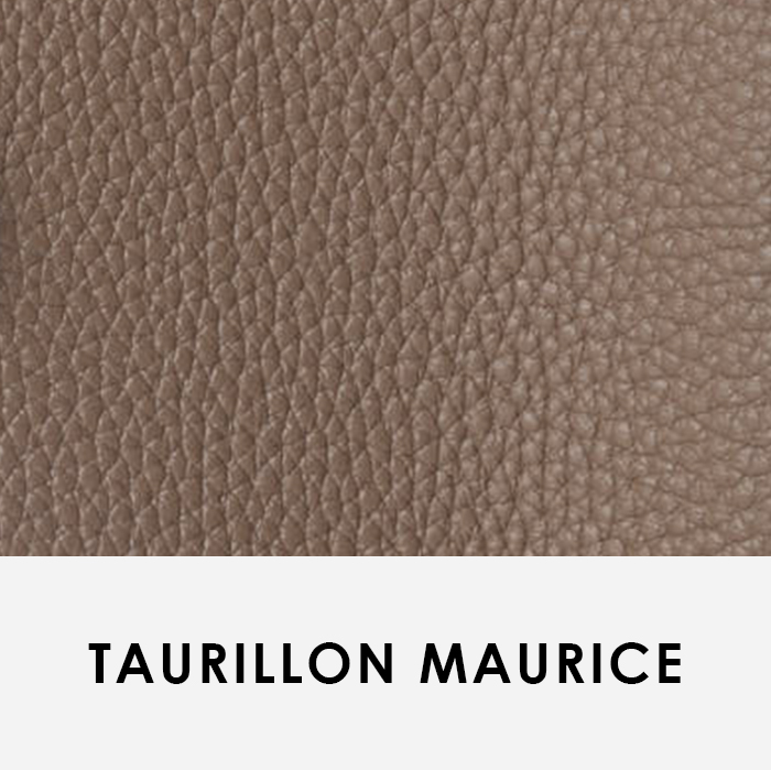 close up image of leather swatch Taurillon Maurice Hermes