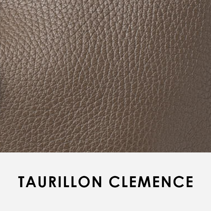 close up image of leather swatch Taurillon Clemence Hermes